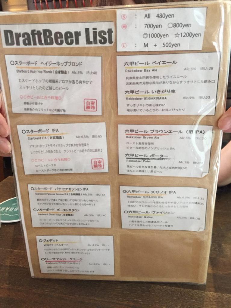 神戸 スター ボード
